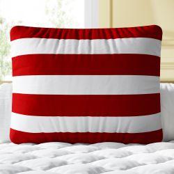 Almofada Listras Vermelho e Branco 39cm