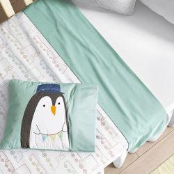Jogo de Lençol Berço Pinguim Maquinista Trenzinho