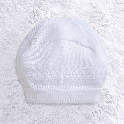Touca para Bebê Tricot Clássico Branco