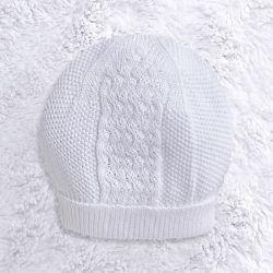 Touca para Bebê Tricot Zigzag Branco
