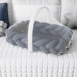 Ninho para Bebê Trança com Mosquiteiro Azul Marinho 80cm