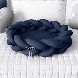 Ninho para Bebê Trança Azul Marinho 80cm