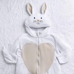 Macacão Fantasia Amiguinho Coelhinho Branco e Amarelo