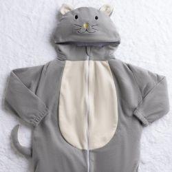 Macacão Fantasia Amiguinho Gatinho Cinza