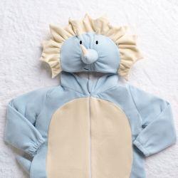 Macacão Fantasia Amiguinho Dino Trici Azul