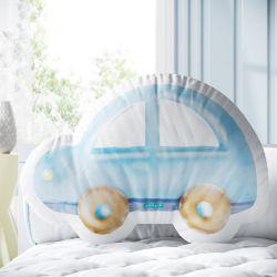 Almofada Carrinho Azul 33cm
