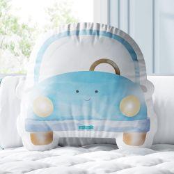 Almofada Carrinho Sorridente Azul 33cm