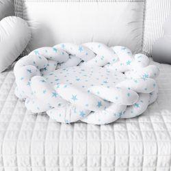 Ninho para Bebê Trança Estrelinhas Azul 80cm