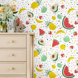 Papel de Parede Frutas Coloridas 3M