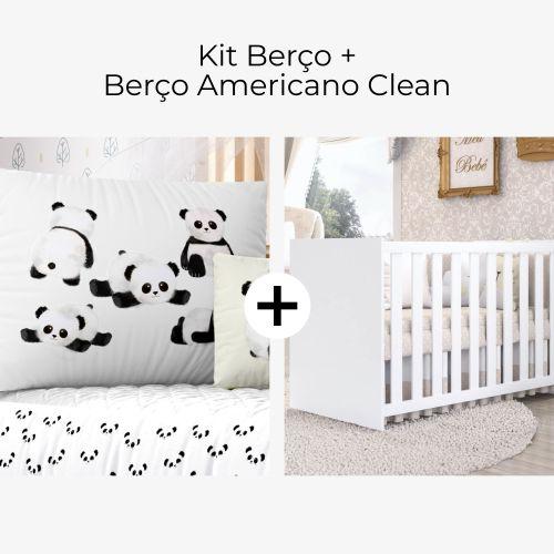 Kit Berço Panda Baby + Berço Americano Clean