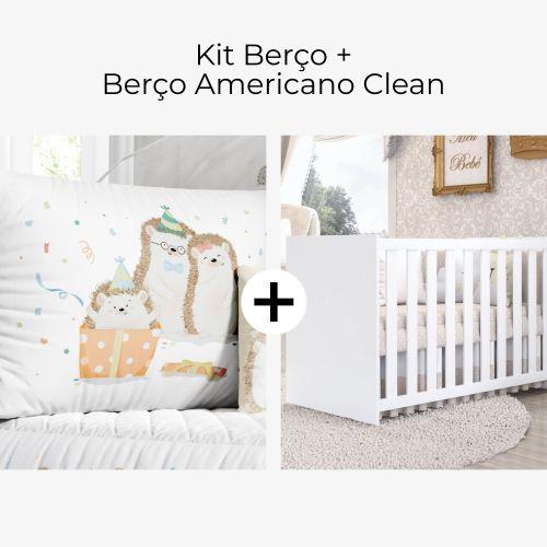 Kit Berço Família Porco Espinho + Berço Americano Clean