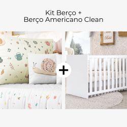 Kit Berço Jardim Florescer + Berço Americano Clean