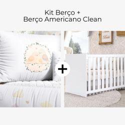 Kit Berço Família Passarinho + Berço Americano Clean