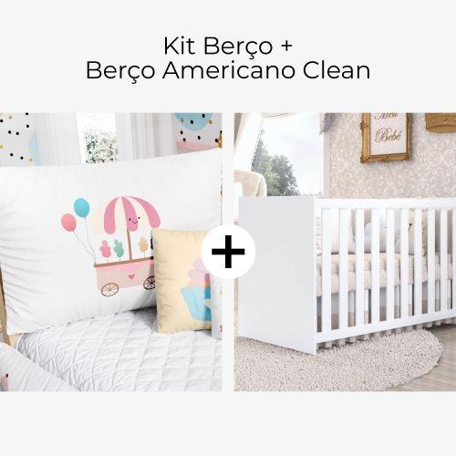 Kit Berço Docinho Colorido + Berço Americano Clean