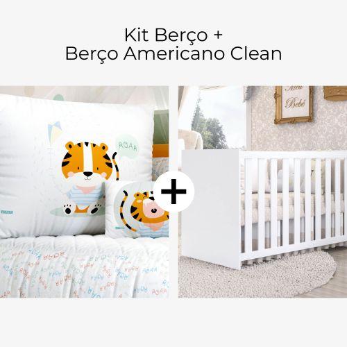 Kit Berço Tigrinho Roar + Berço Americano Clean