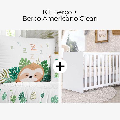 Kit Berço Preguicinha + Berço Americano Clean