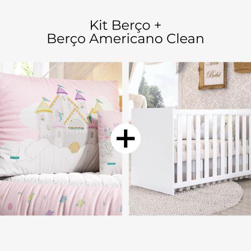 Kit Berço Castelo Encantado + Berço Americano Clean
