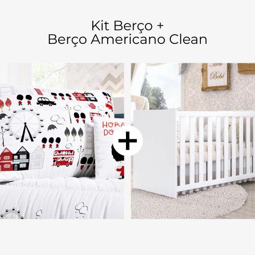 Kit Berço Soldadinho de Chumbo + Berço Americano Clean