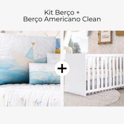 Kit Berço Barquinho de Papel + Berço Americano Clean