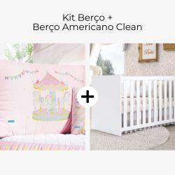 Kit Berço Carrossel dos Sonhos + Berço Americano Clean