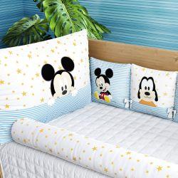 Kit Berço Mickey Mouse Azul