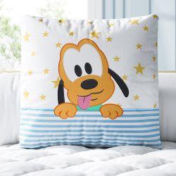 Almofada Quadrada Pluto Estrelinha 30cm