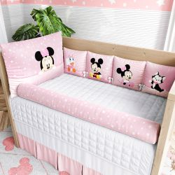 Kit Berço Minnie Mouse Rosa