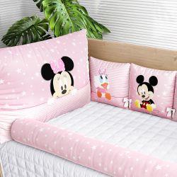 Kit Berço Minnie Mouse Rosa