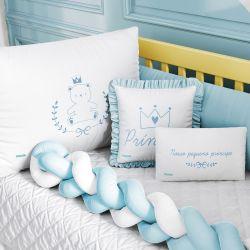 Kit Berço Trança Teddy Príncipe Azul