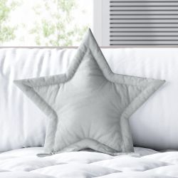 Almofada Estrela Cinza 30cm