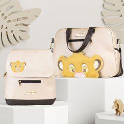 Conjunto de Bolsa e Mochila Maternidade Simba O Rei Leão 02 Peças