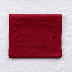 Manta Tricot Coração Vermelho 80cm