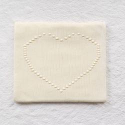 Manta Tricot Coração Amarelo Jasmim 80cm