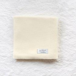 Manta Tricot Clássico Amarelo Jasmim 80cm