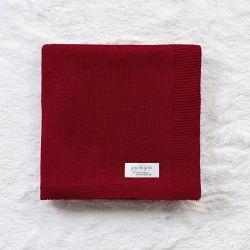 Manta Tricot Clássico Vermelho 80cm