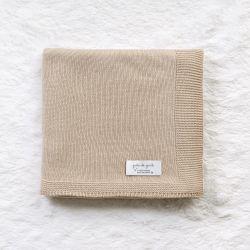 Manta Tricot Clássico Bege 80cm