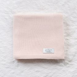Manta Tricot Clássico Rosa 80cm