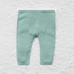 Calça Tricot Trança Verde
