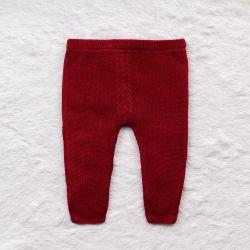 Calça Tricot Trança Vermelho
