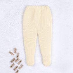 Calça Tricot Pézinho Canelado Amarelo