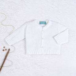Casaquinho Tricot Básico Branco