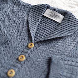 Casaquinho Tricot Monarca Azul Jeans