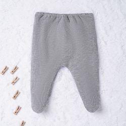 Calça Malha Tricotada Cinza