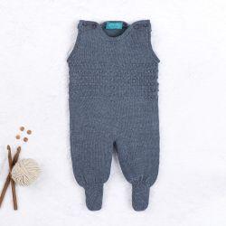 Macacão Tricot Requinte Azul Jeans