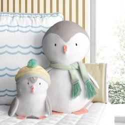 Bichinhos de Pelúcia Família Pinguim 02 Peças
