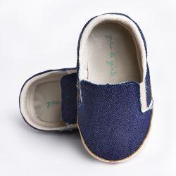 Tênis Bebê Slipper Azul Jeans