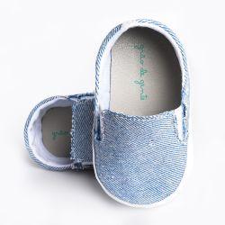 Tênis Bebê Slipper Azul Jeans Claro