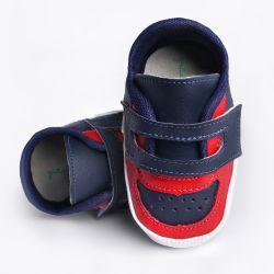 Tênis Bebê Harry Bicolor Azul Marinho e Vermelho