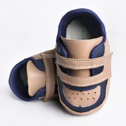 Tênis Bebê Harry Bicolor Bege e Azul Marinho