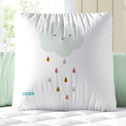 Almofada Quadrada Chuva de Amor Boho 33cm